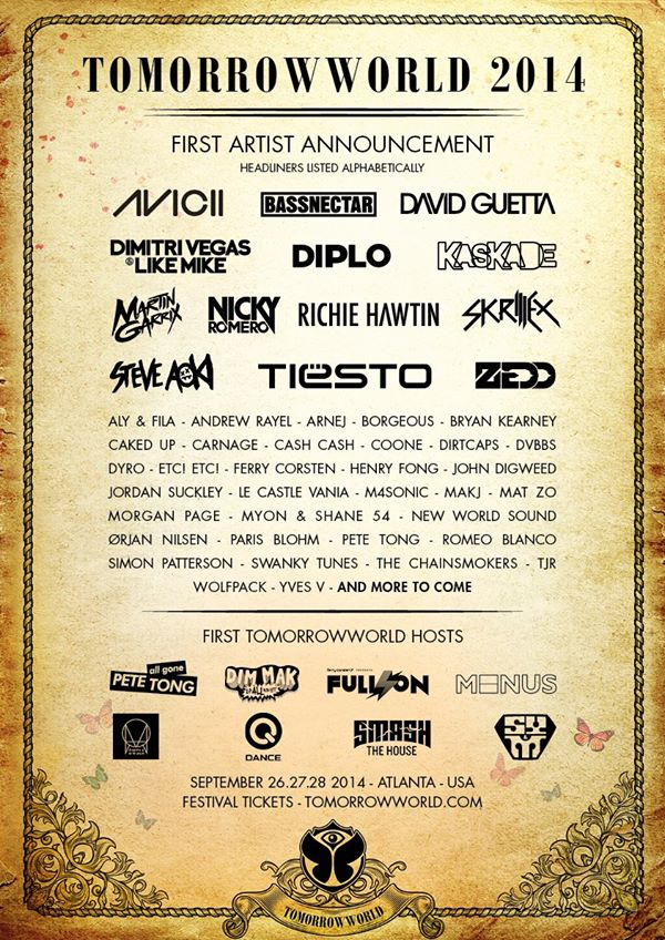 tomorroworld 2014 line up