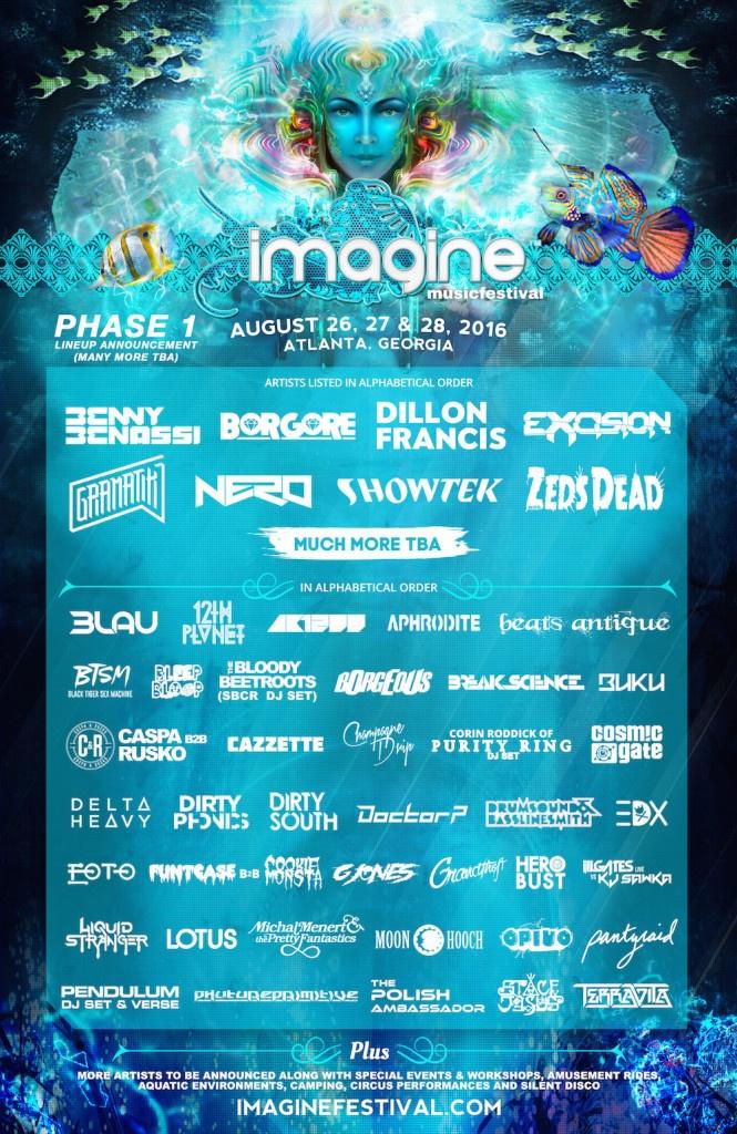Imagine Music Festival Phase 1 Lineup 2016