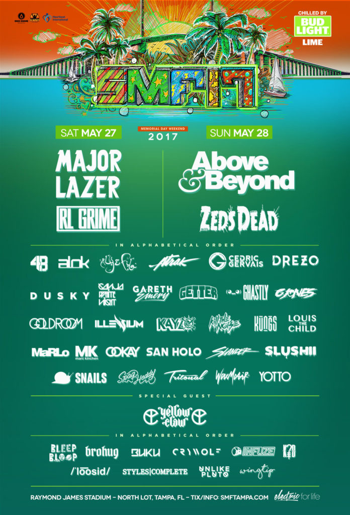 Sunset Music Festival Releases Lineup for 2017 1