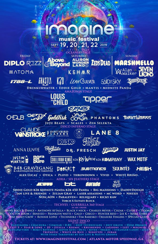Imagine Music Festival Releases Full Lineup, Including Additional Fourth Day for 2019 1