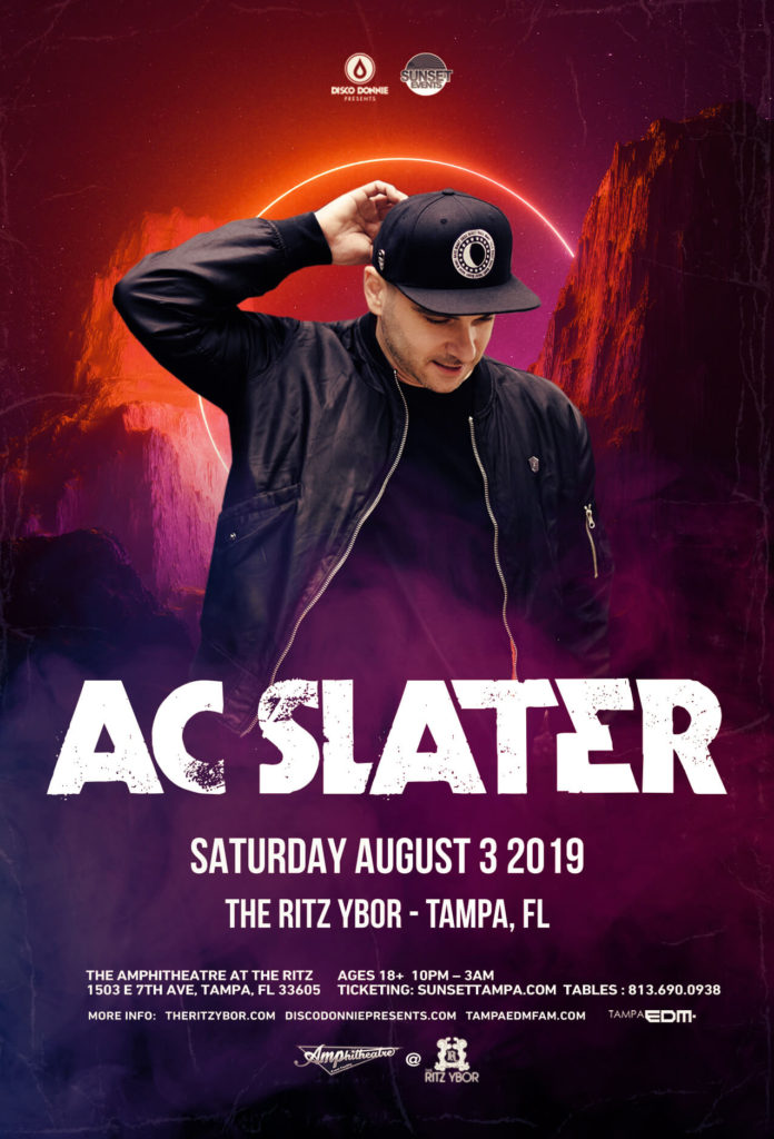AC Slater Announces New Album Ahead of Huge Show in Tampa at The Ritz (8/3/19) 2