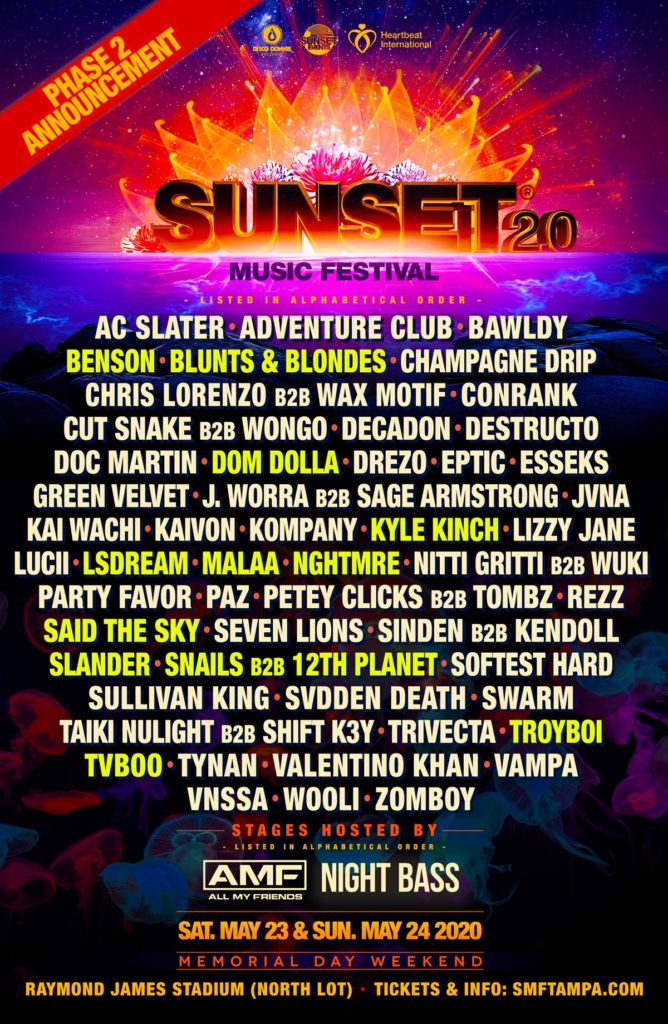 Sunset Music Festival Announces Event Full Steam Ahead Memorial Day Weekend 6